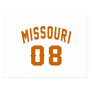 Missouri 08 Birthday Designs Postcard