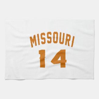 Missouri 14 Birthday Designs Hand Towels