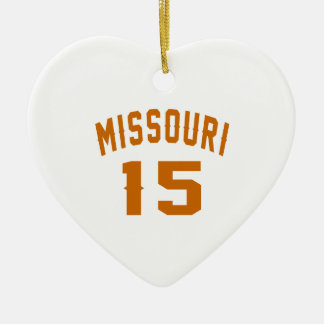 Missouri 15 Birthday Designs Ceramic Ornament