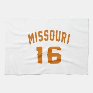 Missouri 16 Birthday Designs Towels