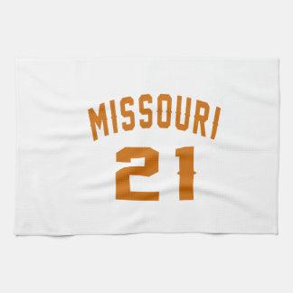 Missouri 21 Birthday Designs Kitchen Towels