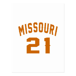 Missouri 21 Birthday Designs Postcard