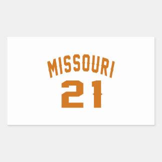 Missouri 21 Birthday Designs Rectangular Sticker