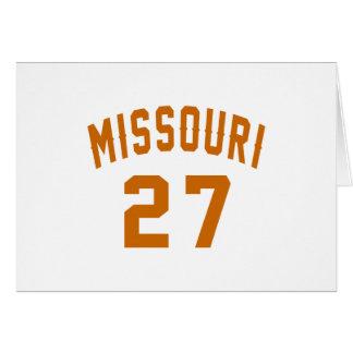 Missouri 27 Birthday Designs Card