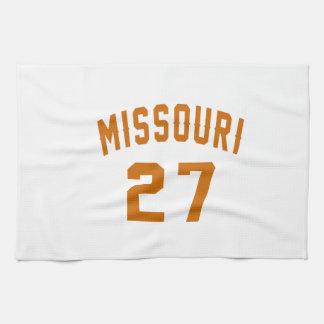 Missouri 27 Birthday Designs Hand Towels