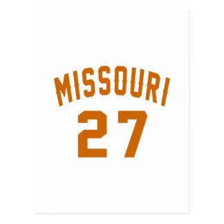 Missouri 27 Birthday Designs Postcard