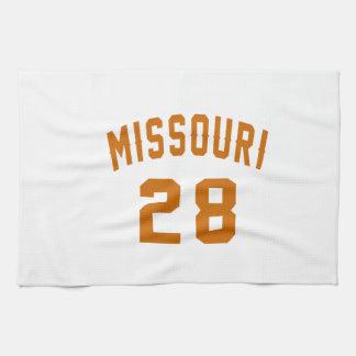 Missouri 28 Birthday Designs Tea Towel