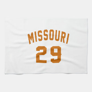 Missouri 29 Birthday Designs Tea Towel