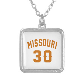 Missouri 30 Birthday Designs Silver Plated Necklace
