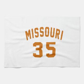 Missouri 35 Birthday Designs Hand Towel