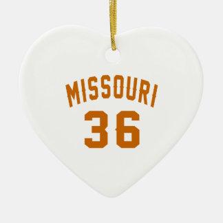 Missouri 36 Birthday Designs Ceramic Ornament