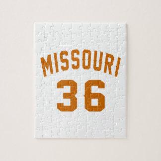 Missouri 36 Birthday Designs Jigsaw Puzzle