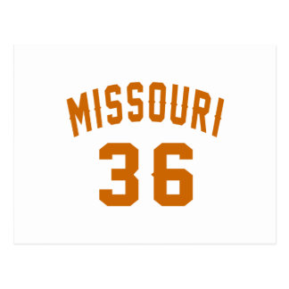 Missouri 36 Birthday Designs Postcard
