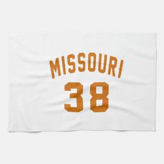 Missouri 38 Birthday Designs Tea Towel