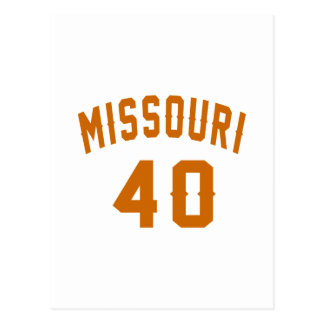 Missouri 40 Birthday Designs Postcard
