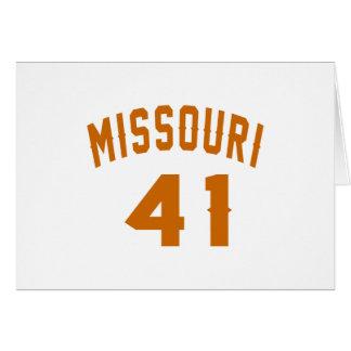 Missouri 41 Birthday Designs Card