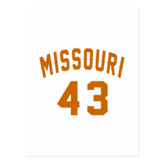 Missouri 43 Birthday Designs Postcard