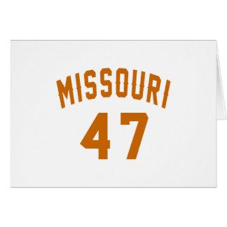 Missouri 47 Birthday Designs Card