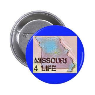 """""""Missouri 4 Life"""" State Map Pride Design 6 Cm Round Badge"""