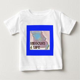 """Missouri 4 Life"" State Map Pride Design Baby T-Shirt"