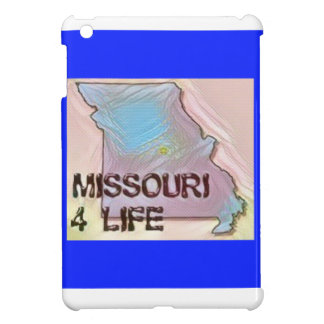 """Missouri 4 Life"" State Map Pride Design iPad Mini Cover"