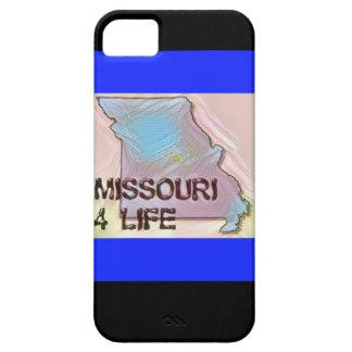 """Missouri 4 Life"" State Map Pride Design iPhone 5 Covers"