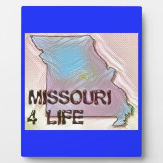 """""""Missouri 4 Life"""" State Map Pride Design Plaque"""