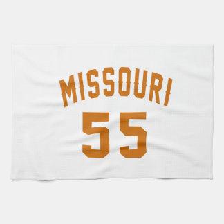Missouri 55 Birthday Designs Hand Towel
