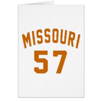Missouri 57 Birthday Designs Card
