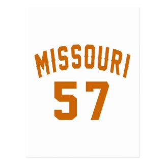 Missouri 57 Birthday Designs Postcard