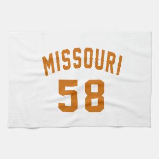 Missouri 58 Birthday Designs Hand Towels