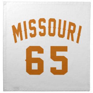 Missouri 65 Birthday Designs Napkin