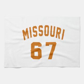 Missouri 67 Birthday Designs Tea Towel