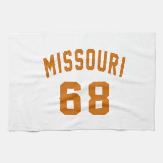 Missouri 68 Birthday Designs Kitchen Towel