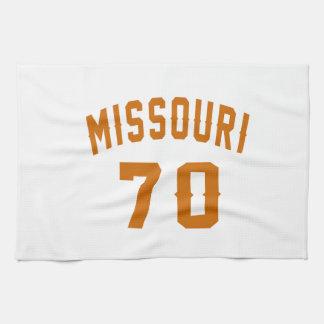 Missouri 70 Birthday Designs Kitchen Towels