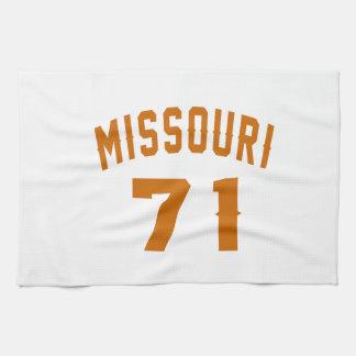 Missouri 71 Birthday Designs Kitchen Towel