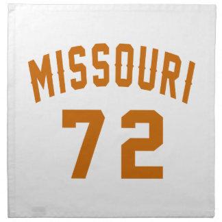 Missouri 72 Birthday Designs Napkin