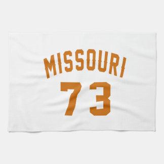 Missouri 73 Birthday Designs Hand Towels