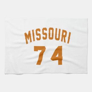 Missouri 74 Birthday Designs Kitchen Towel