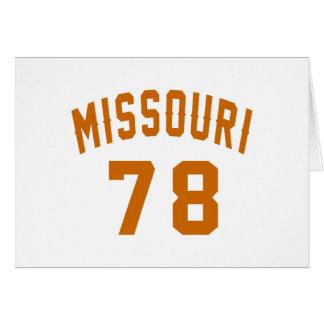 Missouri 78 Birthday Designs Card