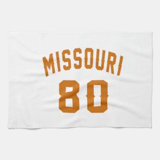 Missouri 80 Birthday Designs Towels