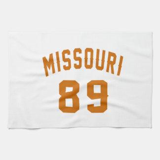 Missouri 89 Birthday Designs Tea Towel