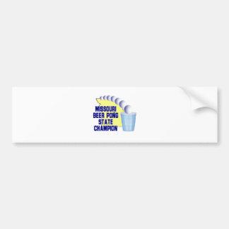 Missouri Beer Pong Champion Car Bumper Sticker