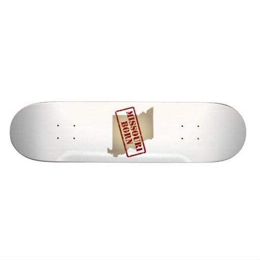 Missouri Born - Stamp on Map Skateboard Deck