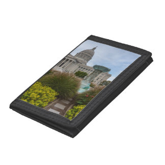 Missouri Capitol And Fountain Tri-fold Wallets