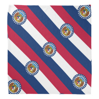 Missouri flag bandana