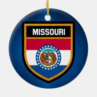 Missouri Flag Ceramic Ornament