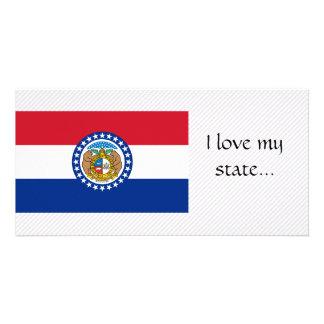 Missouri Flag Customized Photo Card