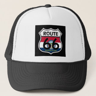Missouri Flag Route 66 Shield Trucker Hat