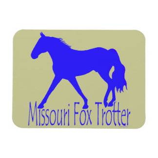 Missouri Fox Trotter Blue Horse Silhouette Rectangular Photo Magnet